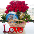 24 Roses, Chocolates, Cookies, Marmalade